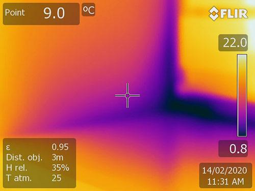 Différentiel thermique au niveau d'une fenêtre