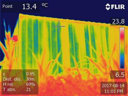 Thermographie de l'enveloppe du bâtiment
